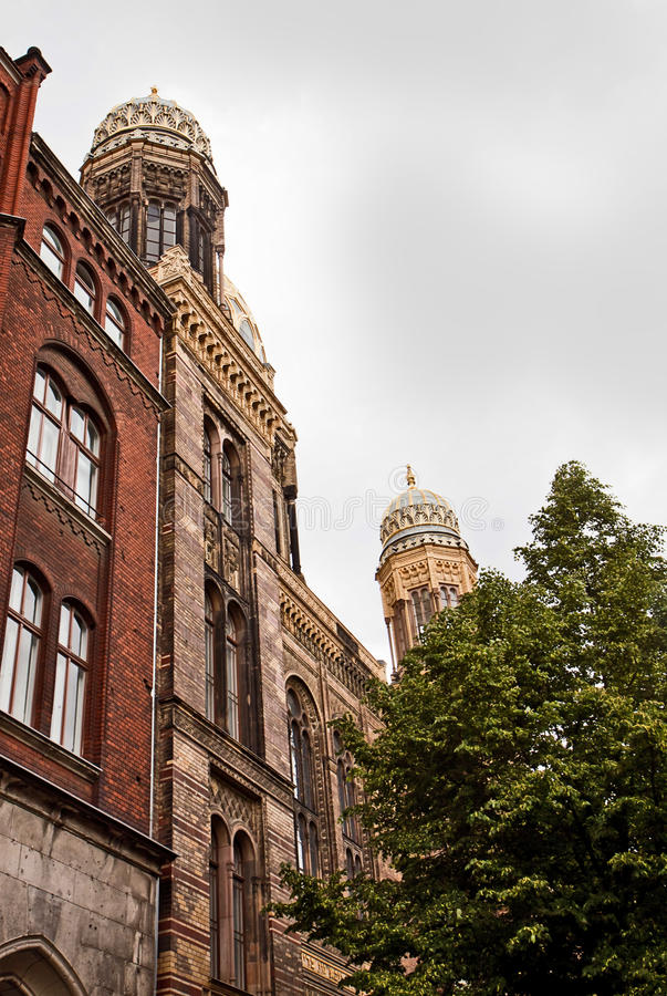 Berlin, New Synagogue,beautiful building in Moorish style. royalty free stock photography