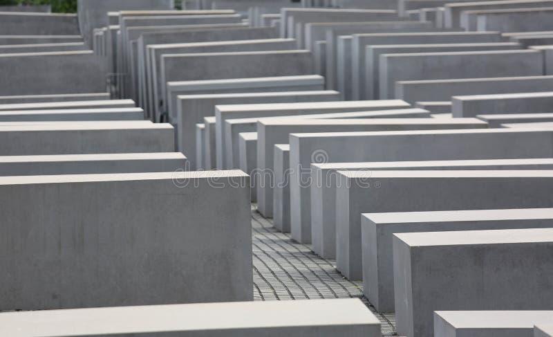 Berlin, Niemcy 16th 2017 Sierpień holokausta pomnik także dzwonił Zabytek Mordujący żyd zdjęcia stock