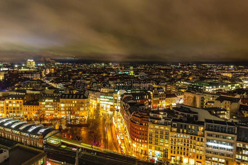 Berlin night cityscape view royalty free stock photography