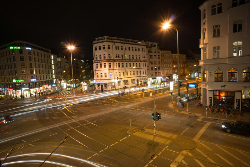 Berlin at night royalty free stock photo