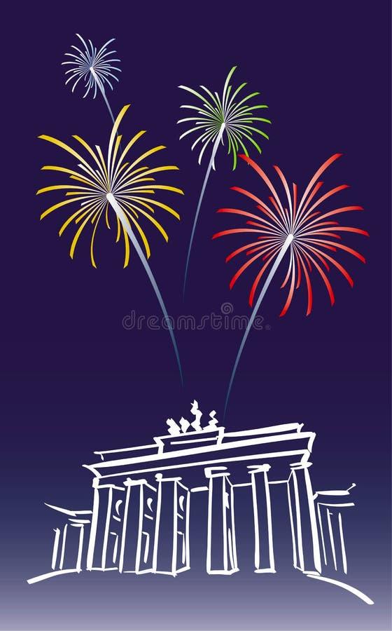 berlin nowy rok ilustracja wektor
