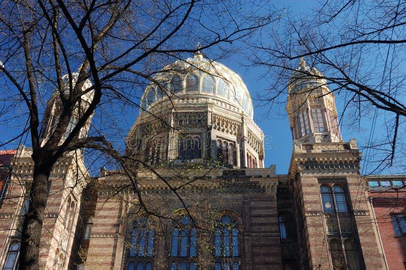 berlin ny synagoga fotografering för bildbyråer