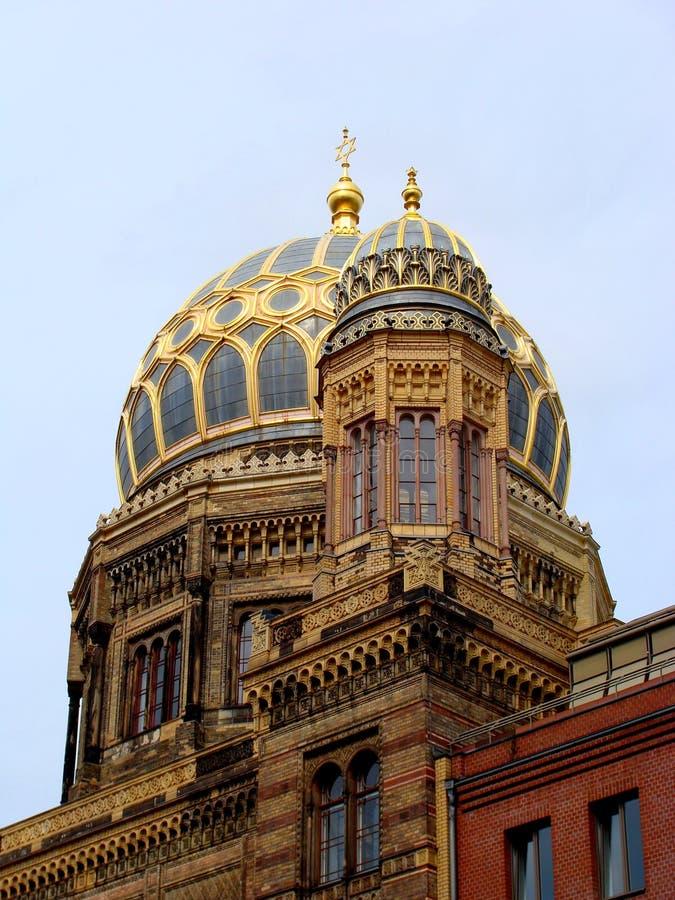 berlin ny synagoga arkivbilder