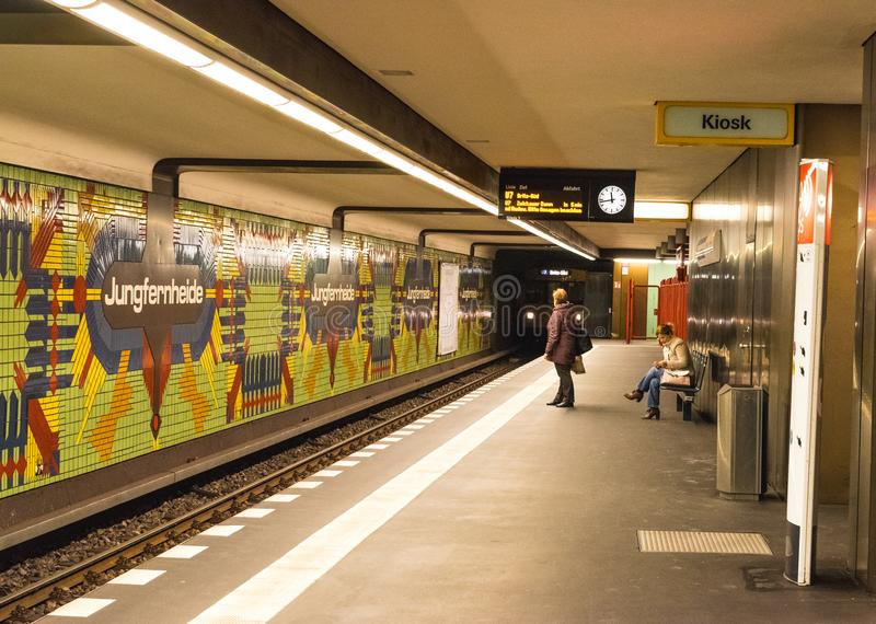BERLIN - OCTOBER 20, 2016: Jungfernheide Metro Station in Berlin. On Octomber 20, 2016 stock photos