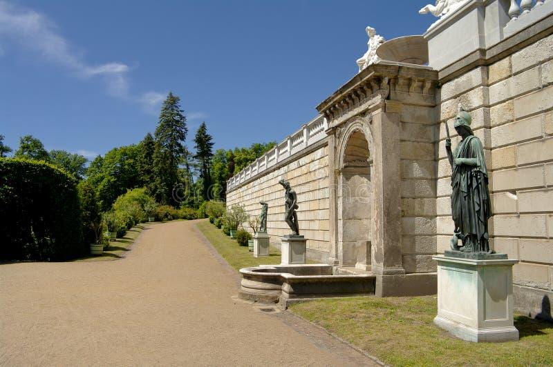 berlin ogrodowa pobliski Potsdam sanssouci rzeźba zdjęcie stock