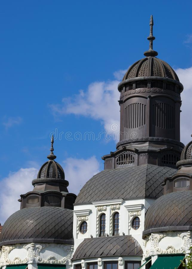 Berlin old city rooftop Grey colored. royalty free stock photography