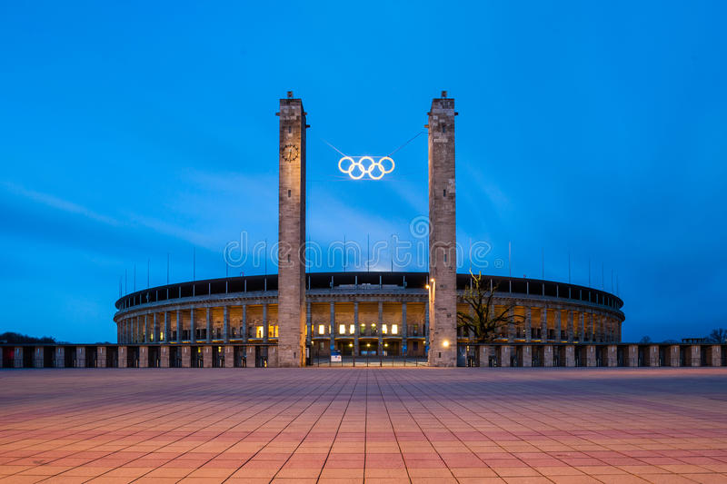 Berlin Olympic Stadium (Olympiastadion) stock images