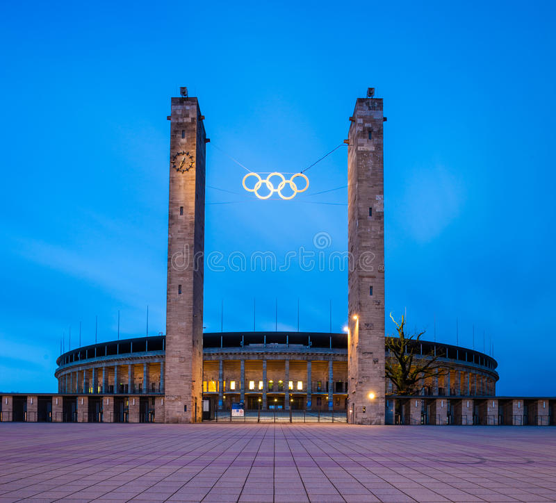 Berlin Olympic Stadium (Olympiastadion) stock photos