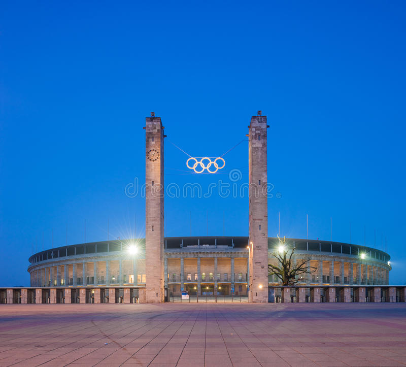 Berlin Olympic Stadium (Olympiastadion) stock photography