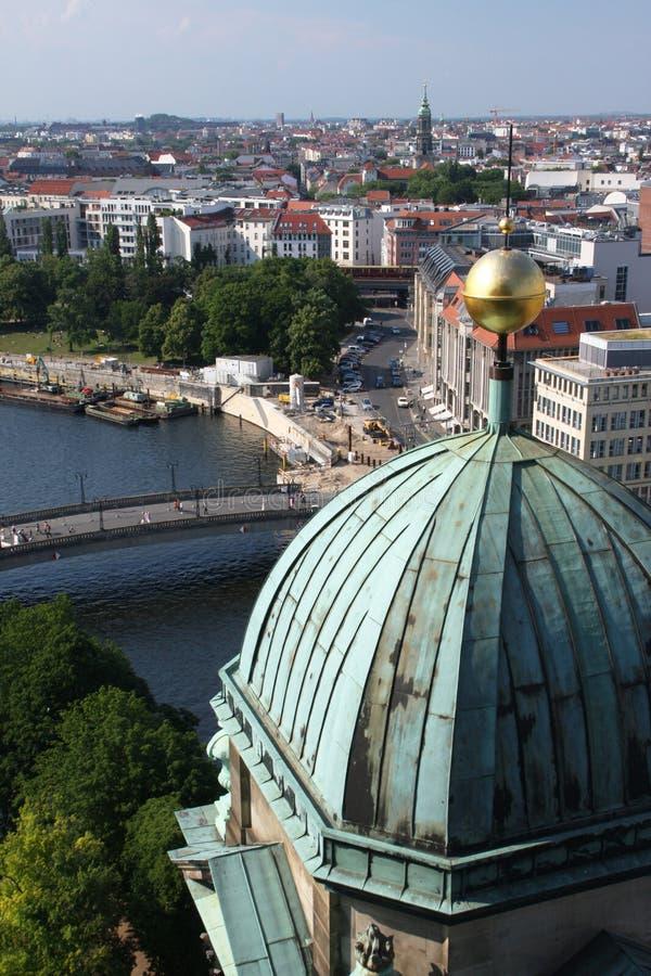 Berlin panorama royaltyfria bilder