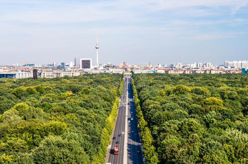 Berlin panorama royaltyfria foton