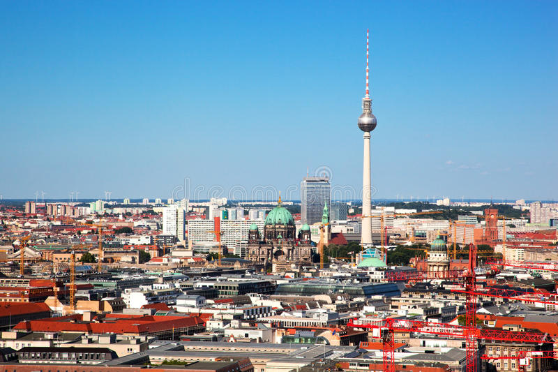 Berlin panorama. Berlin Cathedral and TV Tower