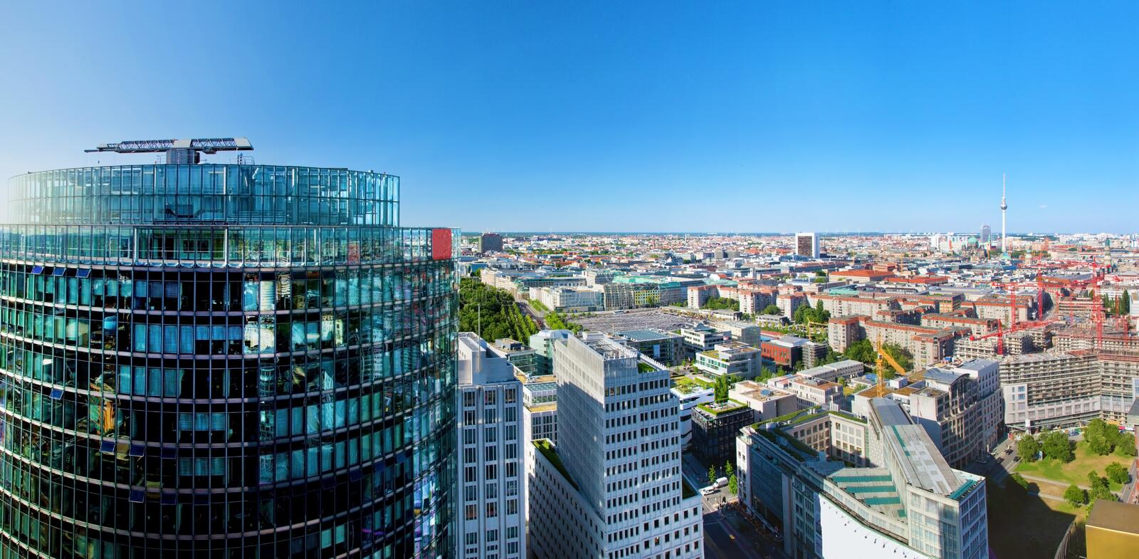 Download Berlin Panorama. Berlin Cathedral And TV Tower Stock Image - Image of cathedral, mitte: 33220645