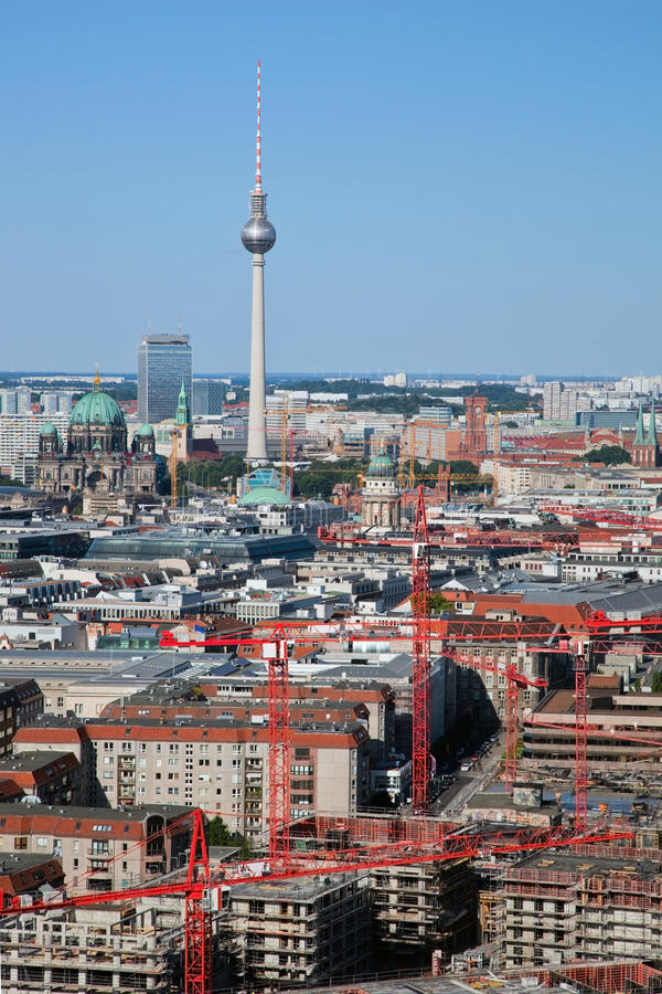 Download Berlin Panorama. Berlin Cathedral And TV Tower Stock Photo - Image: 33221300