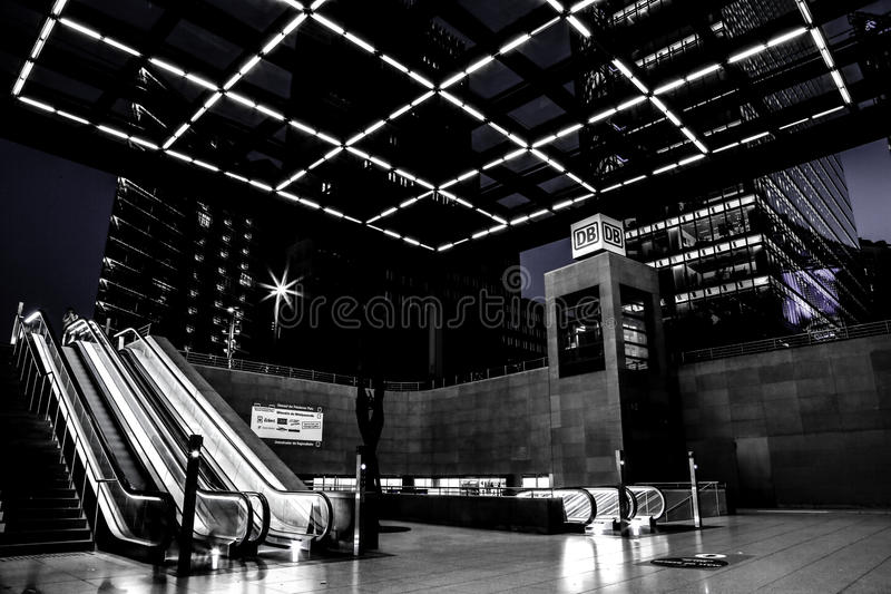 Berlin Potsdamerplatz train station stock photos
