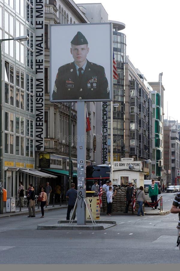 berlin punkt kontrolny Charlie zdjęcie stock
