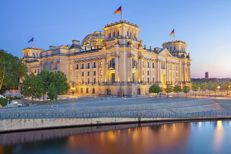Berlin Reichstag stockfoto