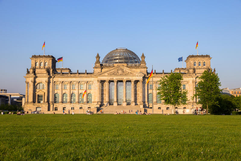 Berlin Reichstag German Parliament fotografia de stock