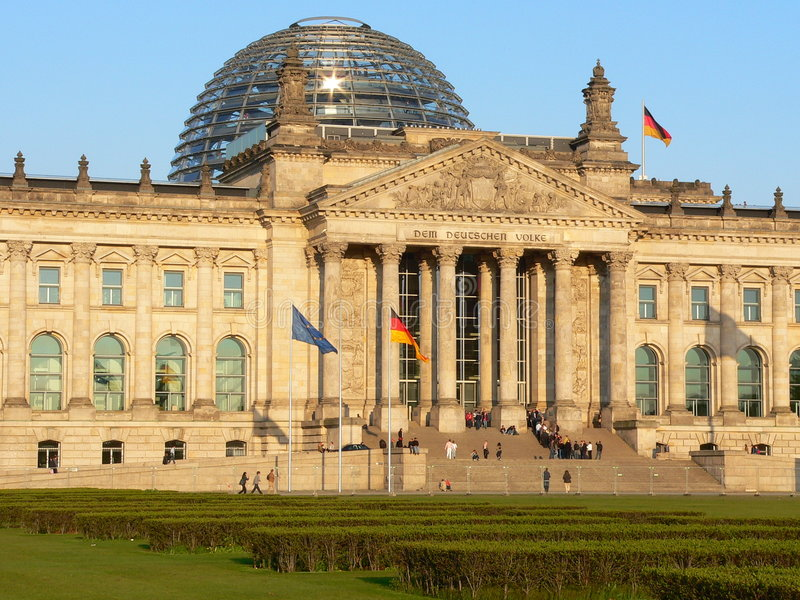 berlin reichstagu zdjęcie royalty free