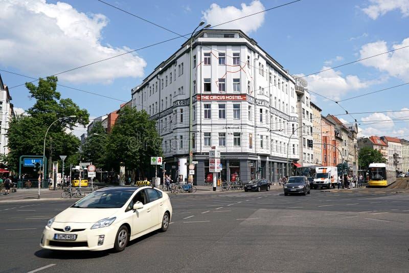 Berlin. Road traffic at Rosenthaler Platz in the center of Berlin stock photo