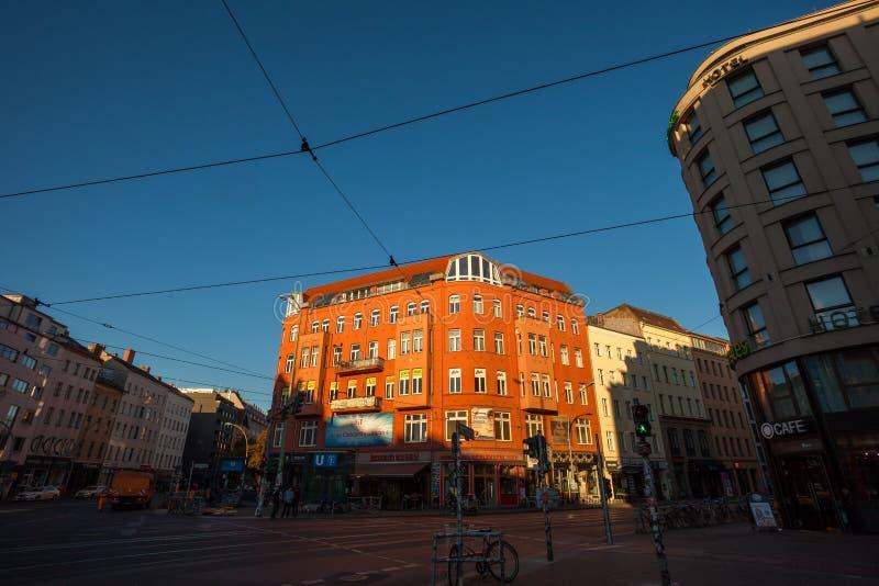 Berlin Rosenthaler Platz. BERLIN - October 3, 2016: Rosenthaler Platz (Rosenthal Square) in Berlin on October 3, 2016 stock photography