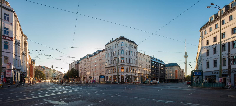 Berlin Rosenthaler Platz. BERLIN - October 3, 2016: Rosenthaler Platz (Rosenthal Square) in Berlin on October 3, 2016 stock images