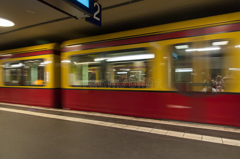 Download Berlin S-Bahn Train stock photo. Image of metro, people - 42549324