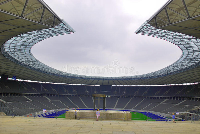 Berlin's Olympia Stadium. BERLIN-GERMANY MAY 23: Berlin's Olympia Stadium was originally built for the 1936 Summer Olympics in the southern part of the royalty free stock images