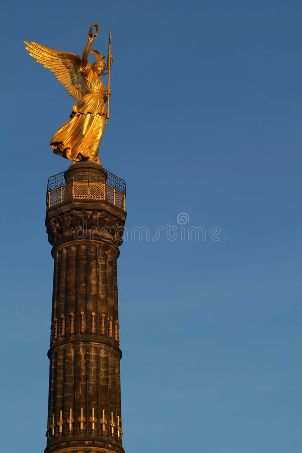 Berlin Siegessaeule royalty free stock photo