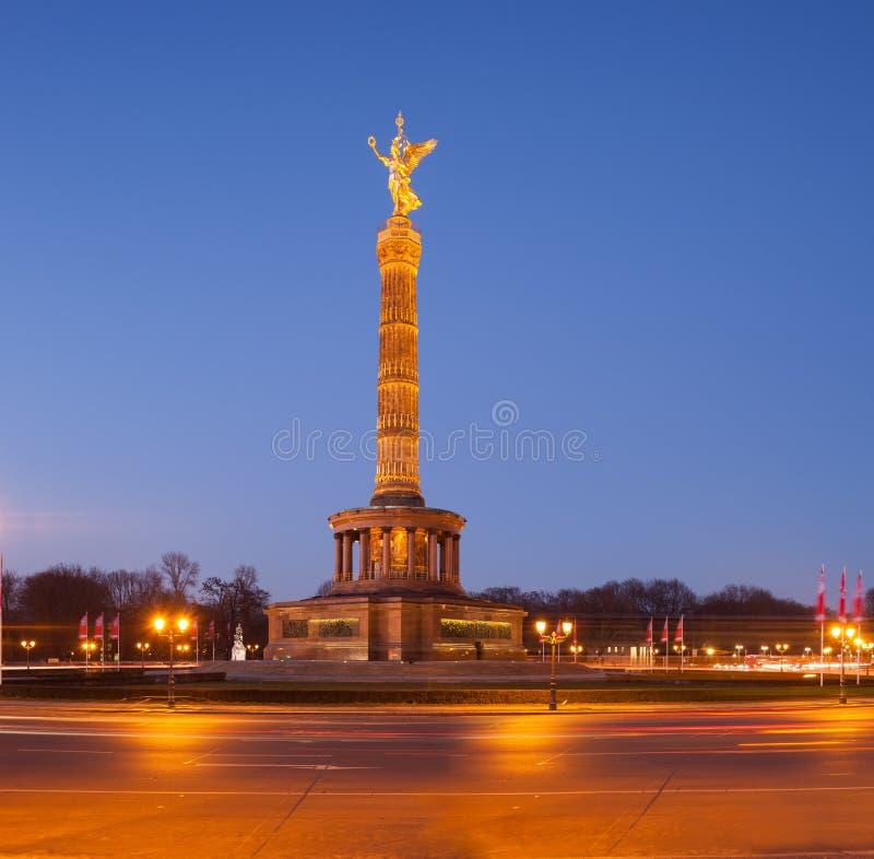 Berlin Siegessauele (Victory Column) imagen de archivo