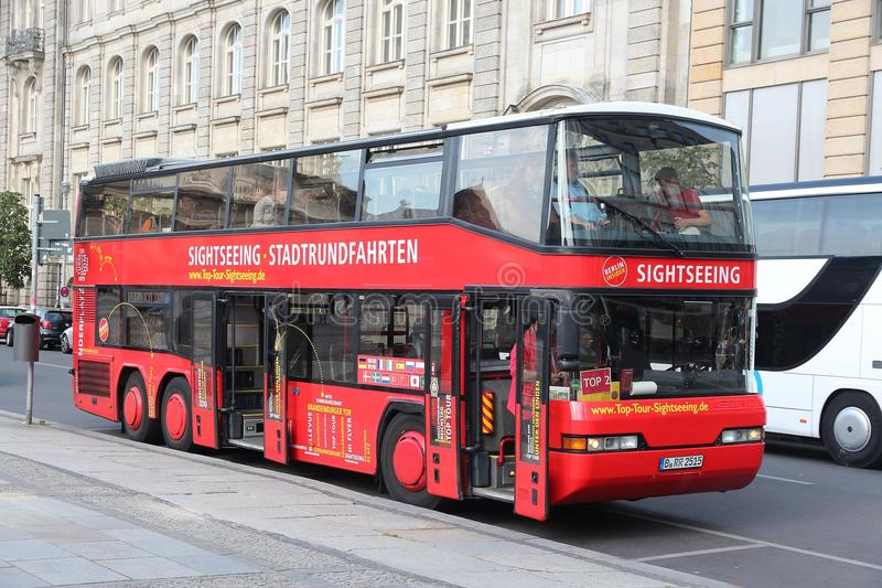 Berlin sightseeing bus stock images