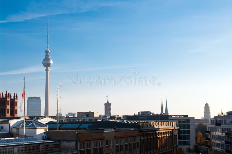 Download Berlin skyline stock photo. Image of sunny, roof, city - 16665318