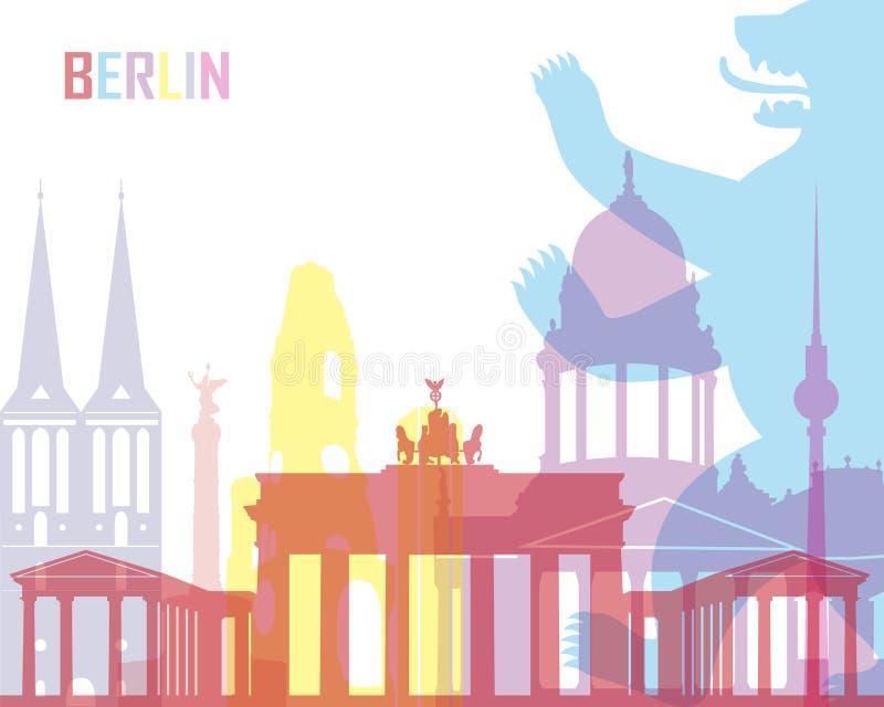 Berlin skyline pop. In editable vector file royalty free illustration