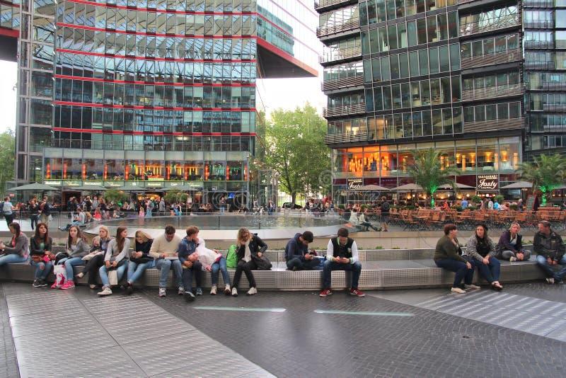 Berlin Sony Center royalty free stock photography