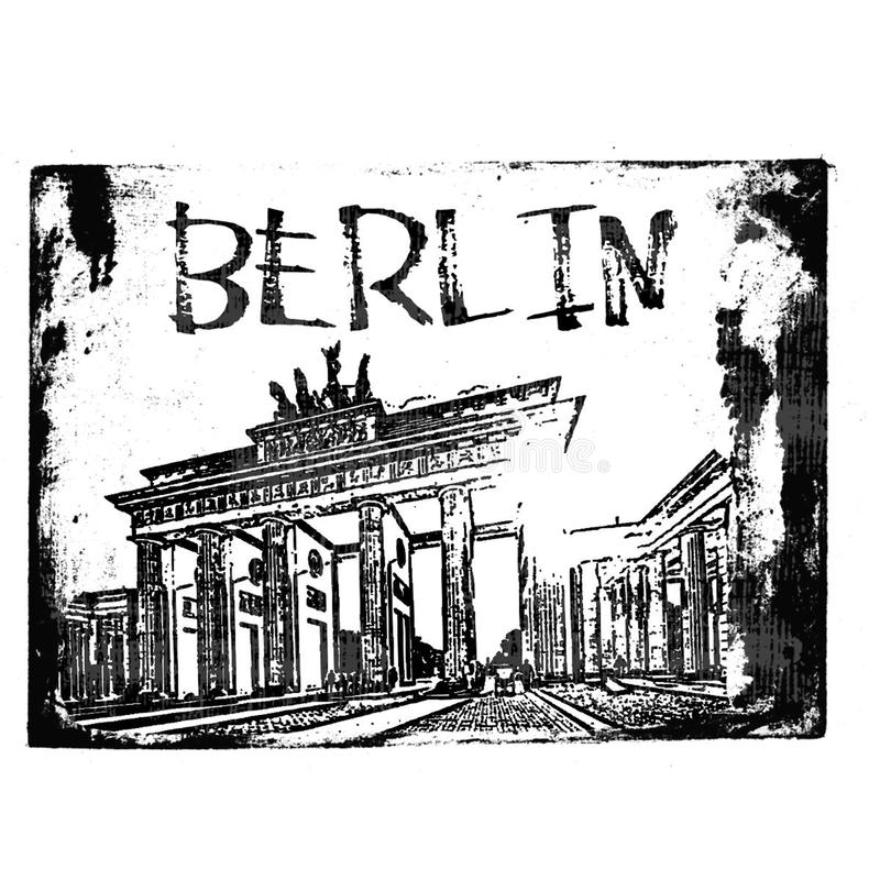 Berlin Stamp stock afbeelding