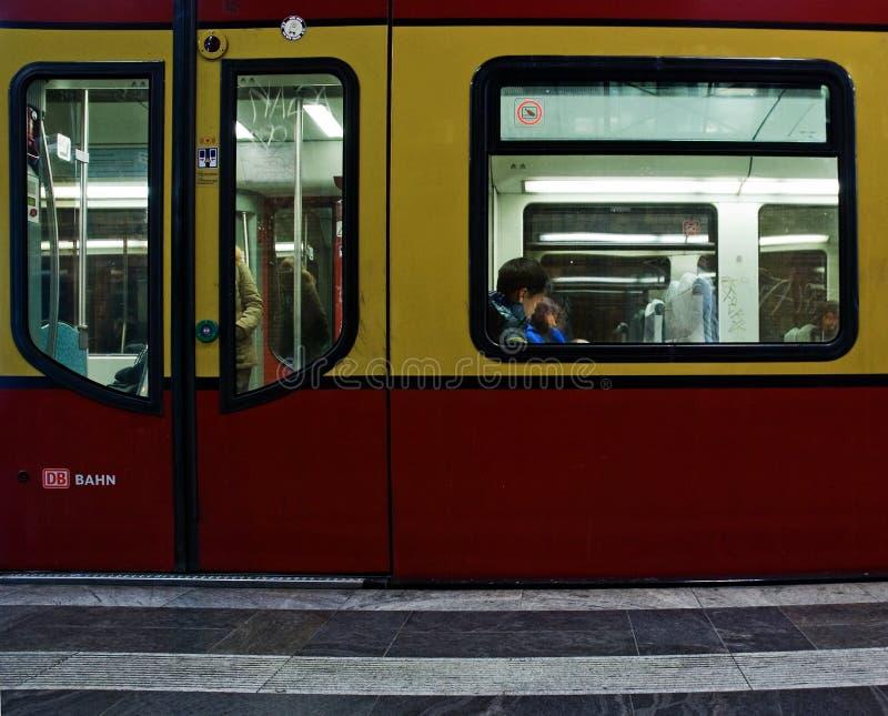 Berlin Subway train royalty free stock photos