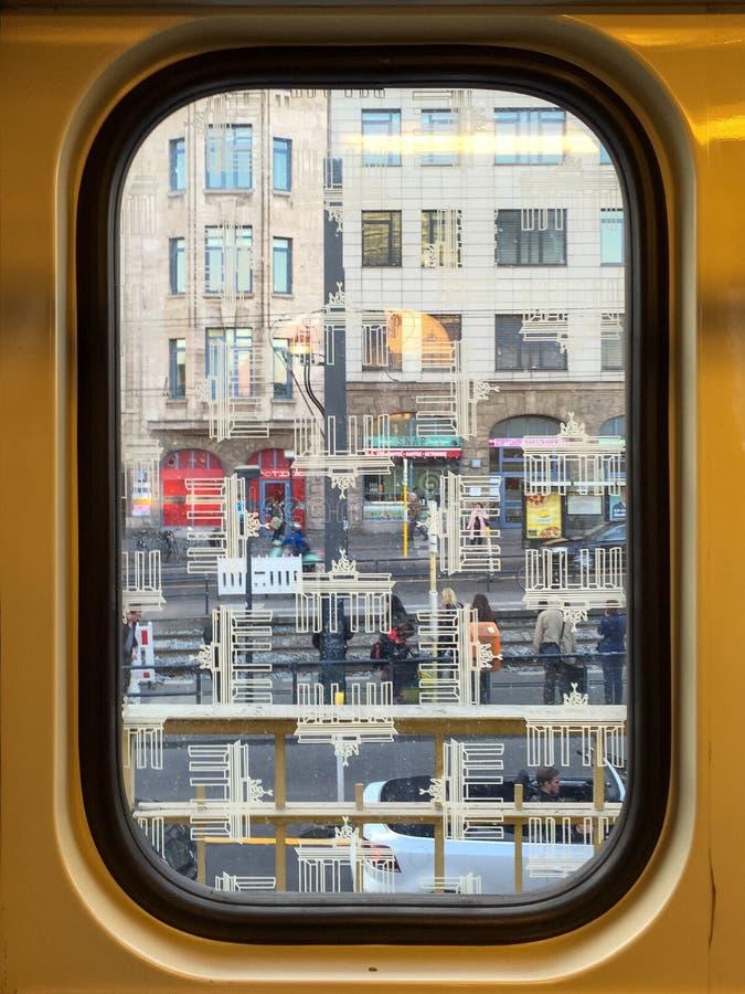 Berlin Subway Window immagini stock