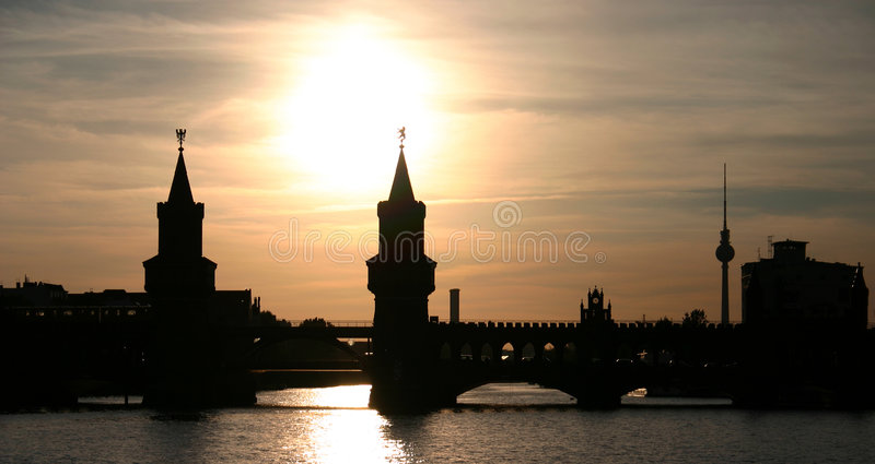 Berlin Sunset stock images