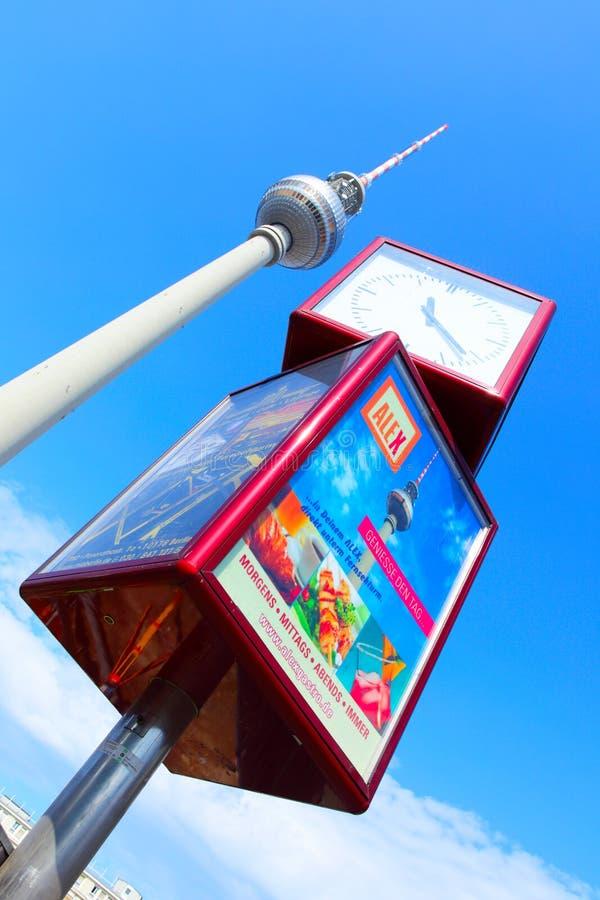Berlin Television Tower arkivfoto