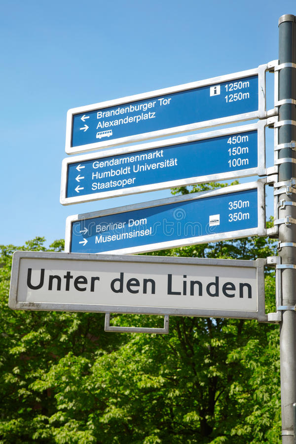 Download Berlin touristic road sign stock image. Image of high - 26597937