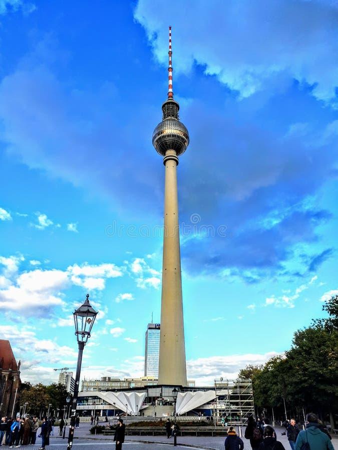 Berlin Tower i september 25th, 2018 royaltyfria foton