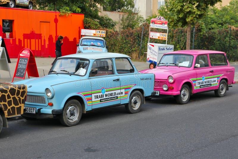 Berlin Trabant royaltyfri fotografi