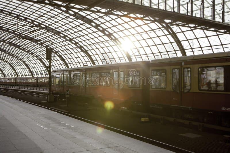Berlin train main station (Hauptbahnhof) stock photography
