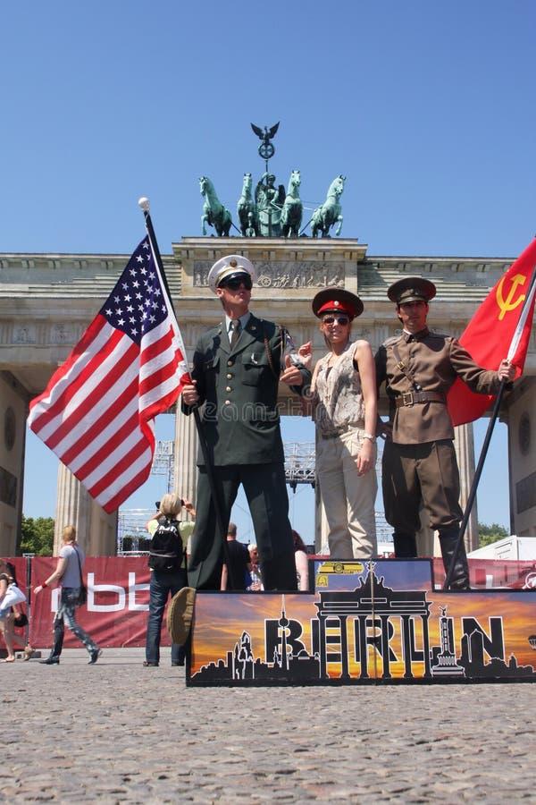 Berlin turism royaltyfria bilder