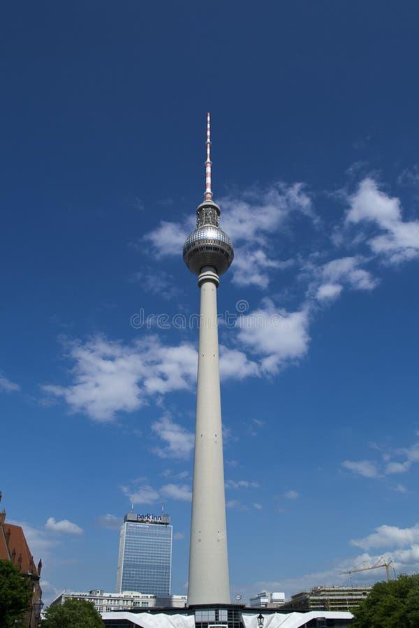 Berlin TV Tower in Alexanderplatz stock images