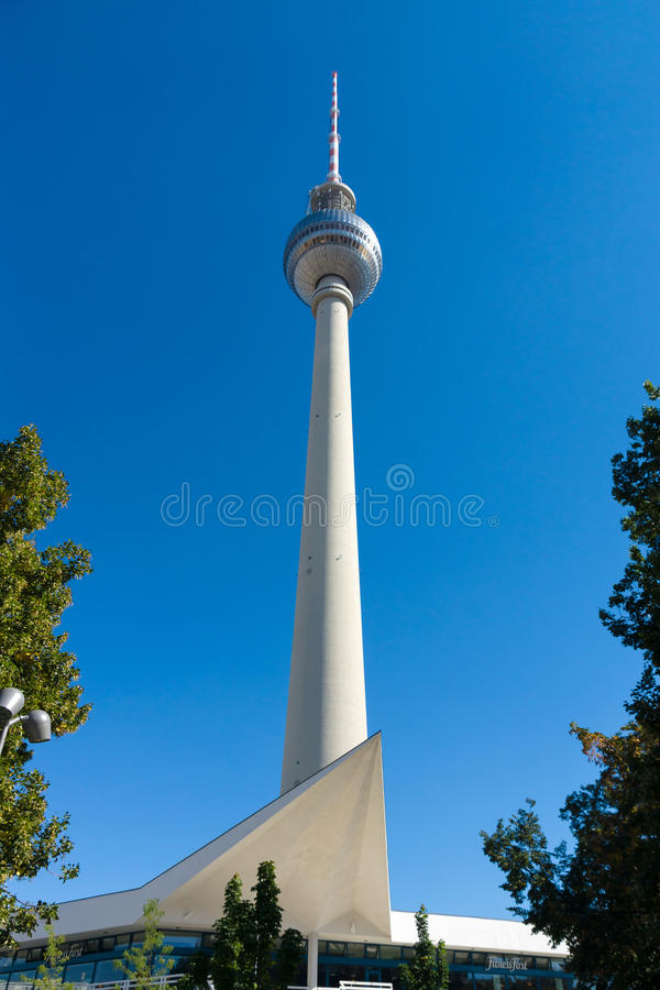 Download Berlin TV Tower On A Background Of Blue Sky Editorial Photography - Image: 33850567