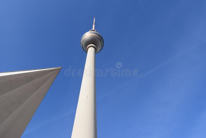 Berlin TV tower royalty free stock photo