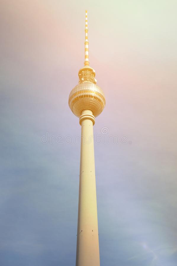Berlin TV wierza fotografia royalty free