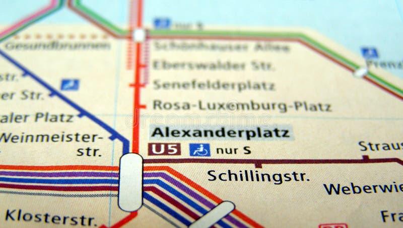 Berlin U-Bahn map stock photos