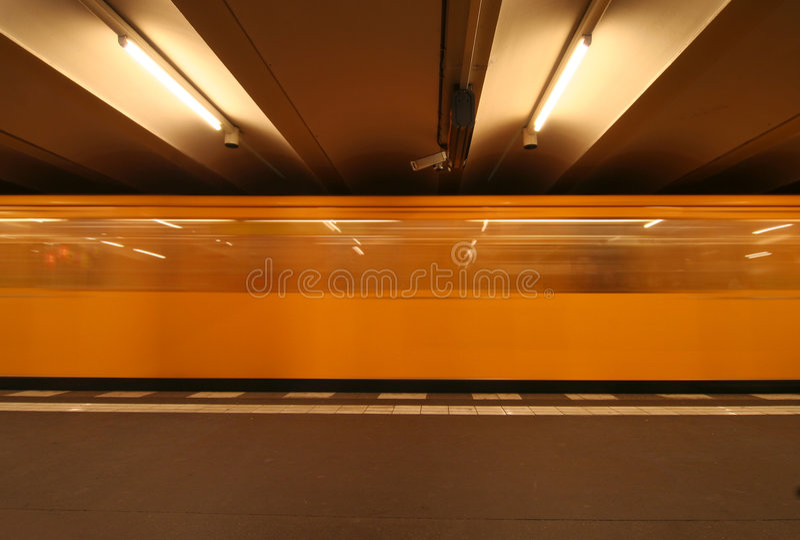 Berlin Underground stock photography